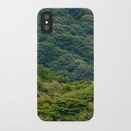 Japanese forest temple iPhone Case