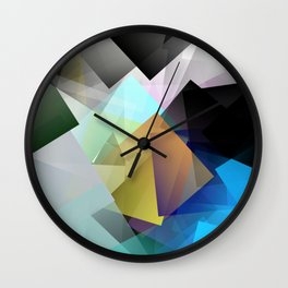 Holographic mountains in Silicon Valley. Wall Clock