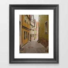 Italian Alley - Bright Colors Framed Art Print