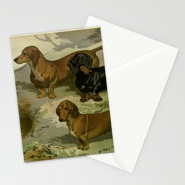Vintage Dachshunds Stationery Cards