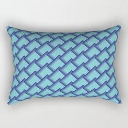 Seamless Blues Rectangular Pillow