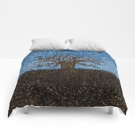 Dot Art Tree Digital Art Comforters