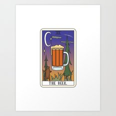 Beer Reading Art Print