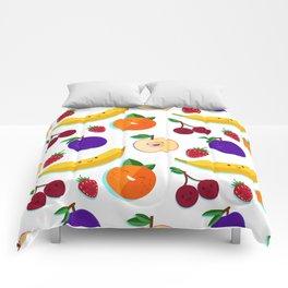 happy fruits and berries Comforters