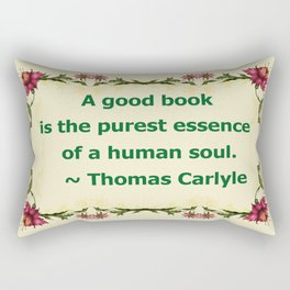 A Good Book - Thomas Carlyle Rectangular Pillow