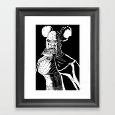 Vador Mouse Unmasked Framed Art Print