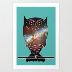 Space Owl Art Print