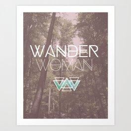 Wander Woman Art Print