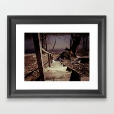 Walking The Murky Waters Framed Art Print