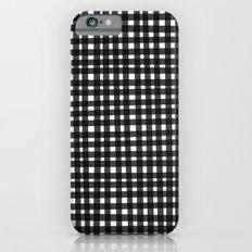 Black Gingham iPhone 6s Slim Case