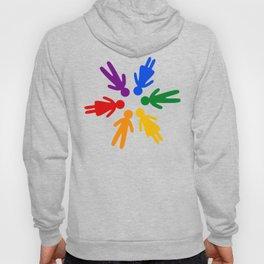 Rainbow people circle Hoody