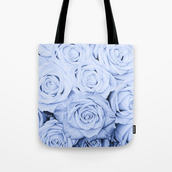 Some people grumble - Blue Rose, Floral Roses Flower Flowers on #Society6 Tote Bag