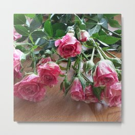 ROSES ARE LOVE Metal Print