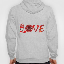 Firefighter Love Fire Ax Boots Extinguisher Gift Hoody