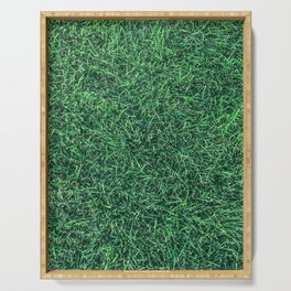 Green Grassy Texture // Real Grass Turf Textured Accent Photograph for Natural Earth Vibe Serving Tray