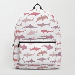 Pink Sharks Backpack