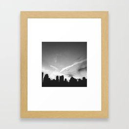 BLACK CITY SKY Framed Art Print