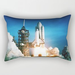 Space Shuttle Launch Rectangular Pillow