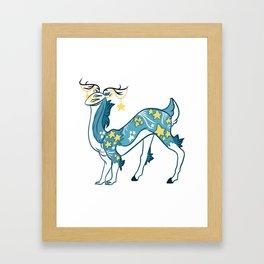 Kikiri starry dreams Framed Art Print