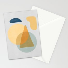 Mix of shapes in a relax atmosphere Stationery Cards