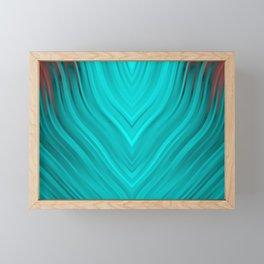 stripes wave pattern 3 2s Framed Mini Art Print