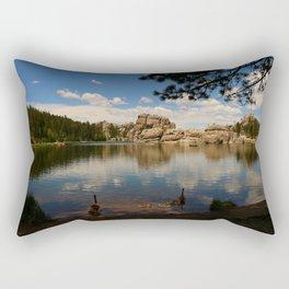 What A Beautiful Day At Sylvian Lake Rectangular Pillow