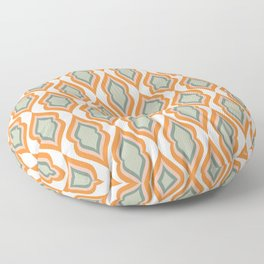 Mid Century Mod Retro Modern Shapes Orange Pink Green Floor Pillow