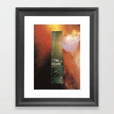 girl at sunset Framed Art Print