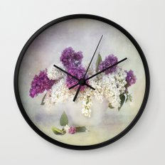 still life with lilac Wall Clock