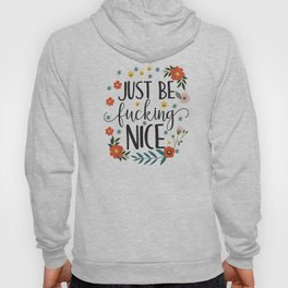 Just Be Fucking Nice, Funny, Quote Hoody