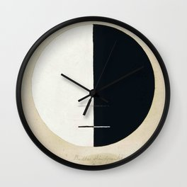 Hilma Af Klint Buddha's Standpoint In The Earthly Life Wall Clock