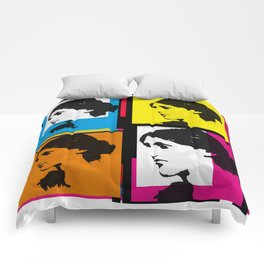 VIRGINIA WOOLF (FUNKY COLOURED COLLAGE) Comforters