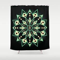 Peace Tile Print Shower Curtain