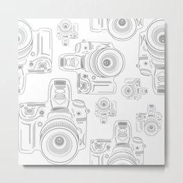 Grey Cameras Metal Print