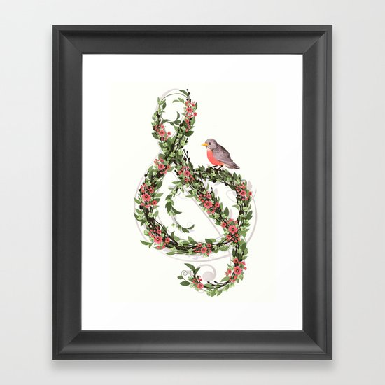 Robin's Song Framed Art Print