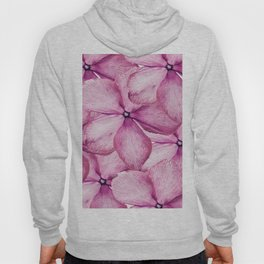 Big Pink Flowers Hoody