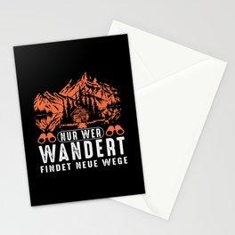 nur wer wandert hiking Stationery Cards
