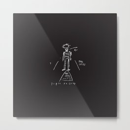 80s Punk Rock, ska record cover, Vectorised Basquiat Metal Print