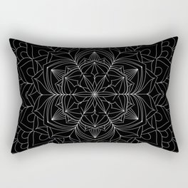 Tranquility | No. 1 | Black and white | Mandala Art Rectangular Pillow