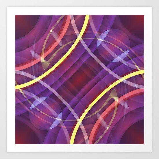 Multicolored symmetry no. 4 Art Print