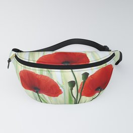 Poppies red 008 Fanny Pack