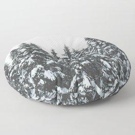 SNOWY TREETOPS Floor Pillow