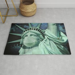 Statue of Liberty with Face Covering Rug