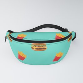 Burgers with fries Fanny Pack