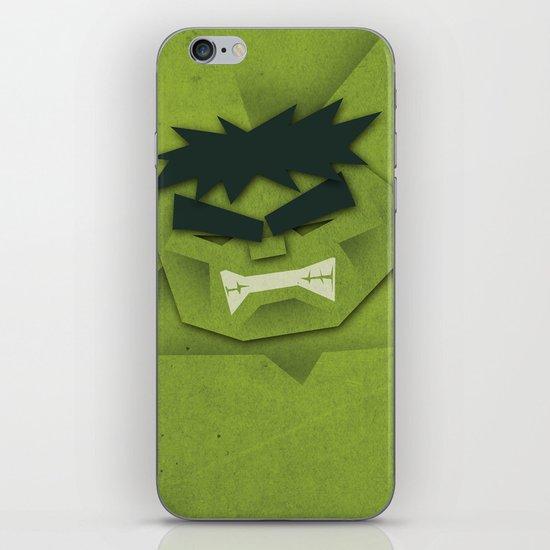 Paper Heroes - Hulk iPhone & iPod Skin