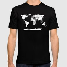 A Political Map of the World LARGE Mens Fitted Tee Black