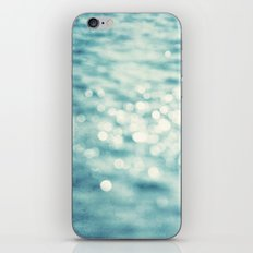 Sparkly Water Abstract Photography, Aqua Blue Sparkle Art iPhone & iPod Skin