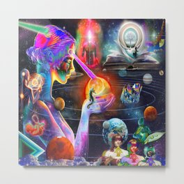 'The Cosmic Internet & The Akashic Records' Metal Print