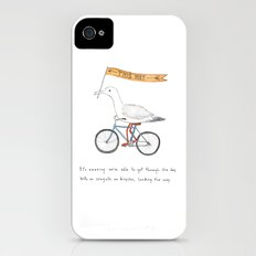 seagulls on bicycles iPhone (4, 4s) Slim Case