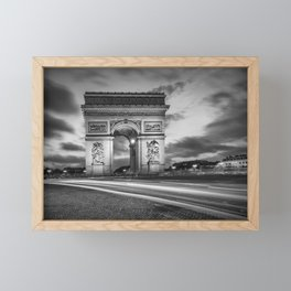 PARIS Arc de Triomphe | monochrome Framed Mini Art Print